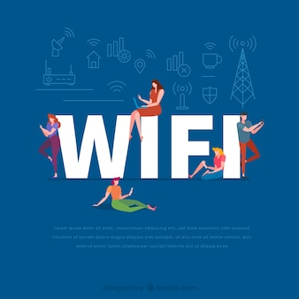 Wifi word concept