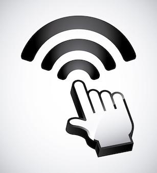 Дизайн зоны wi-fi Premium векторы