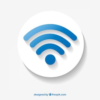 Синий фон символа wifi