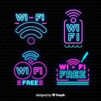 ネオン無料のwifiサインコレクション