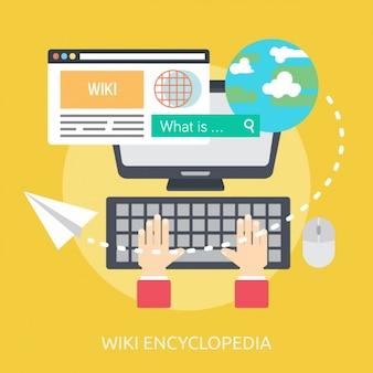 Wiki encyclopedia background design