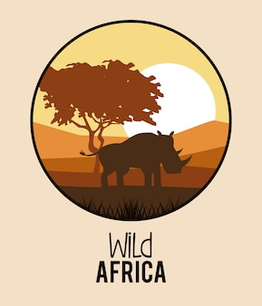 Дикие африканские животные