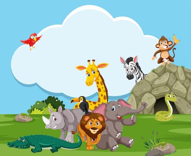 自然の中の野生動物