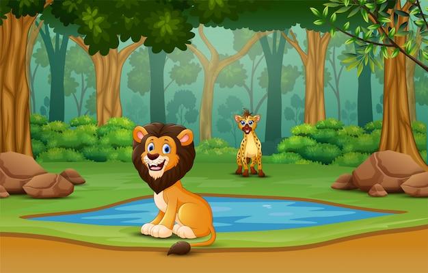 自然の中で野生動物