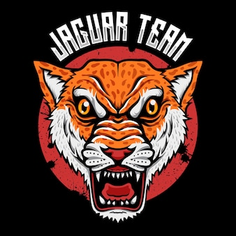 Wild animal predator jaguar head logo esport illustrator