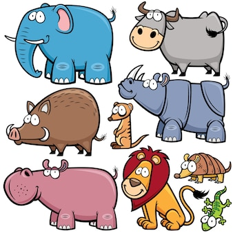 Wild animals cartoons