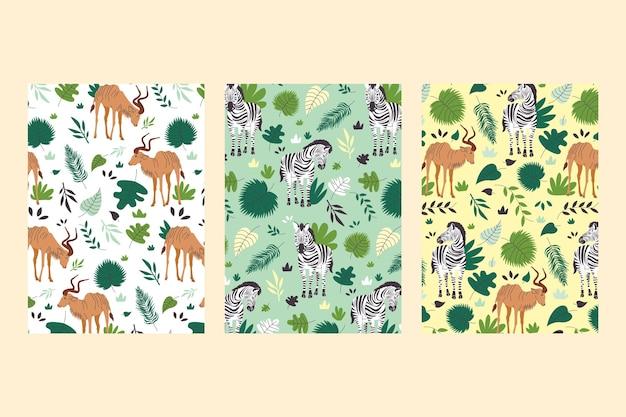 Collezione di copertine di animali selvatici