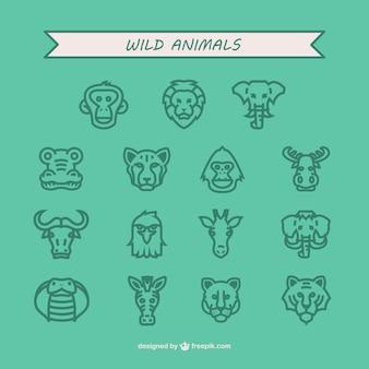 야생 동물 아이콘 팩