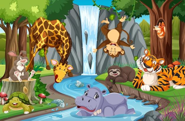 정글에서 야생 동물