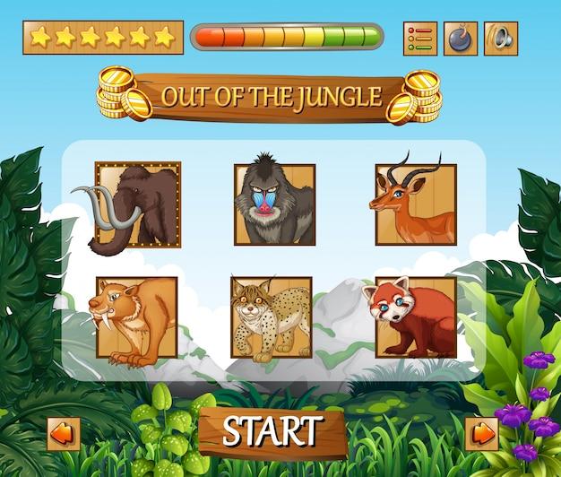 Wild animals jungle game template