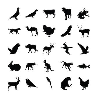 Твердый набор диких животных