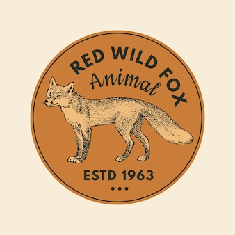 Наклейки диких животных в винтажном стиле
