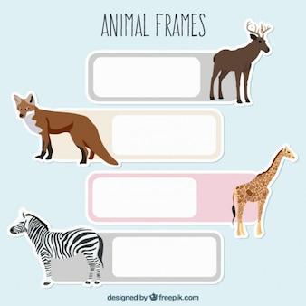 Adesivi animali selvatici