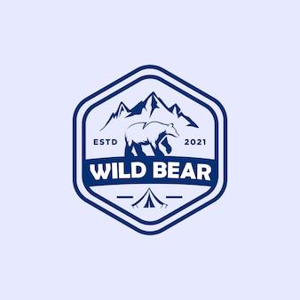 Логотип значка дикого медведя