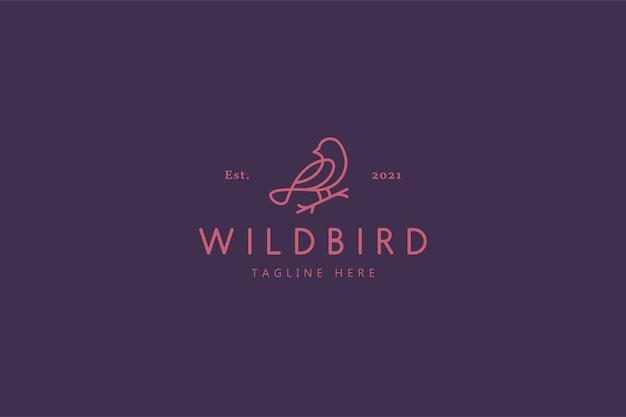 野鳥自然生活イラストロゴ