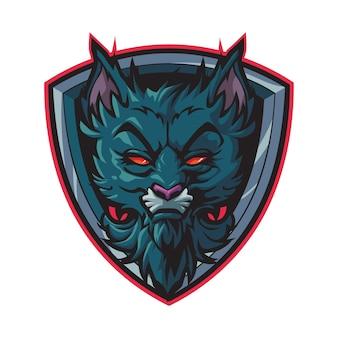 Логотип киберспорта wild black cat