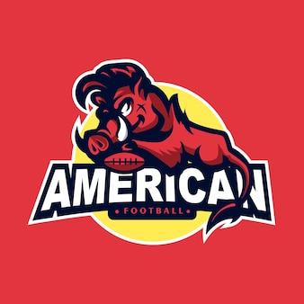 Логотип маскота дикого кабана