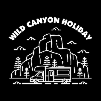 Wild canyon holiday