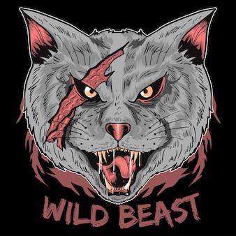 Wild cat beast