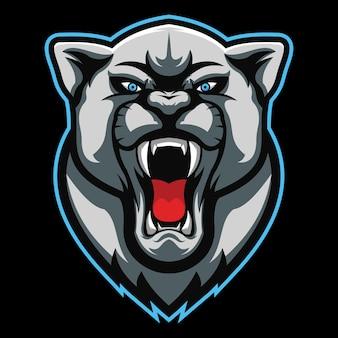 Дикая кошка киберспорт логотип иллюстрации