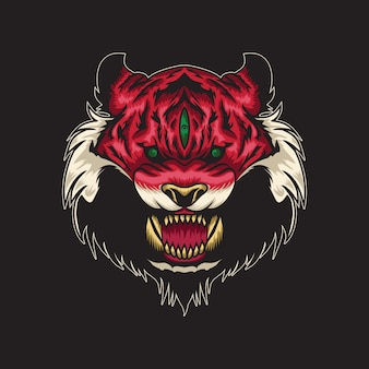 Wild cat illustration