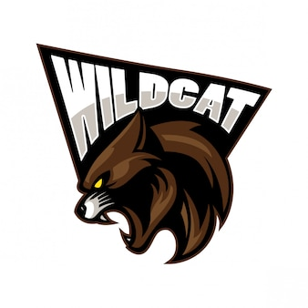 Wild cat sport mascot design