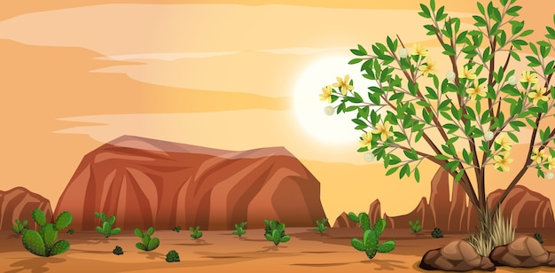 Дикий пустынный пейзаж в дневное время