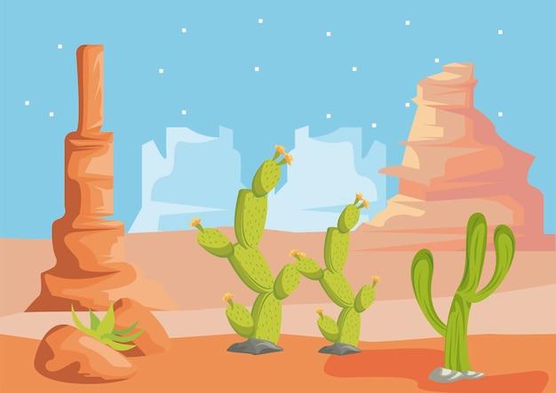 野生の砂漠のシーン