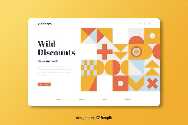 Wild discounts abstract sales landing page