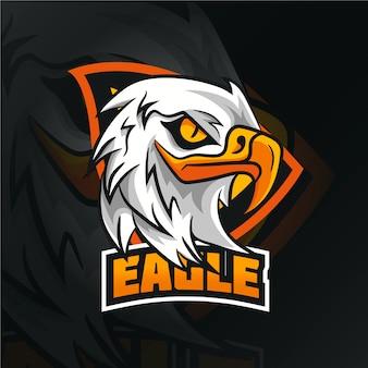 Wild eagle mascot logo