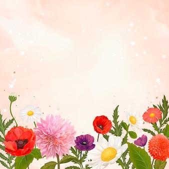 Wild flower frame