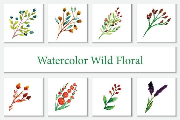 Wild flower theme watercolor wall hanging