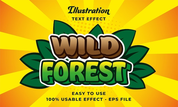 Wild forest text effect