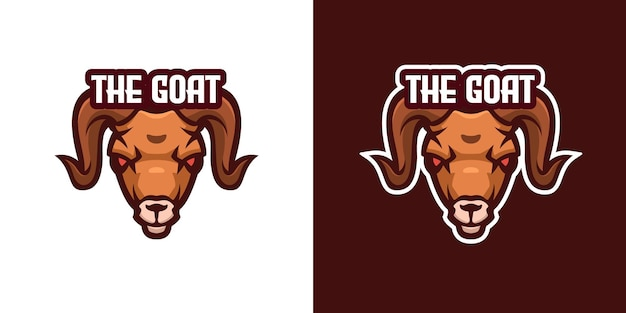 Wild goat mascot character logo template