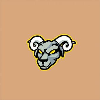 Wild goat mascot