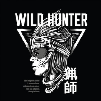 Wild hunter black and white