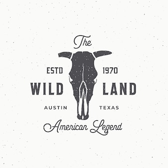 Wild land abstract  sign, symbol or logo template.