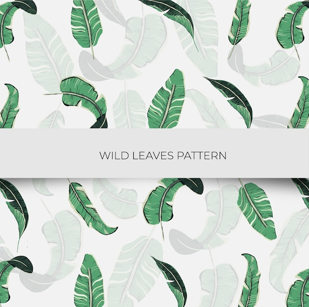 Wild leaves seamless pattern
