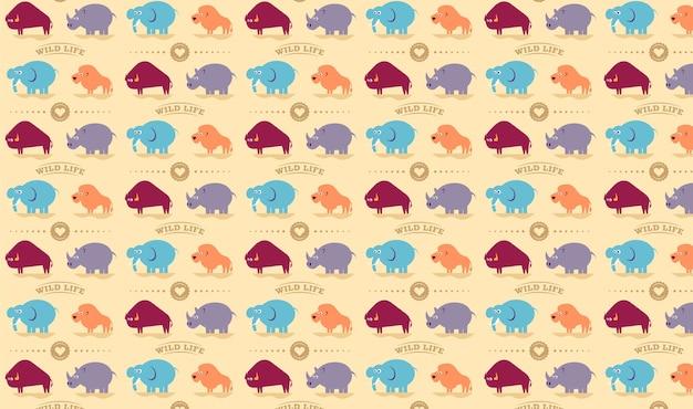 野生生物のシームレスなパターン。
