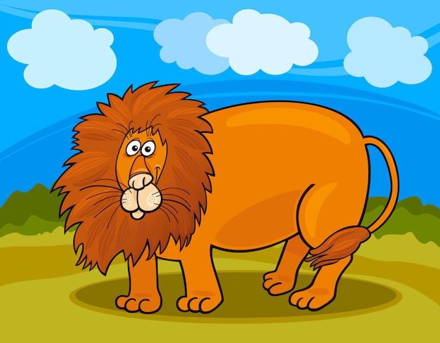 野生のライオン漫画のイラスト