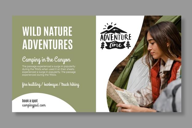 Wild nature horizontal banner template
