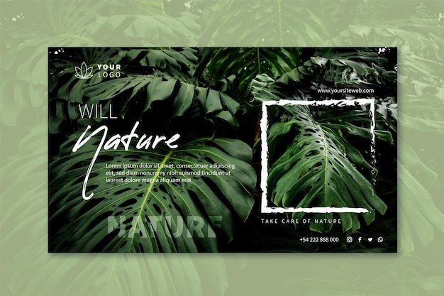 Wild nature horizontal banner