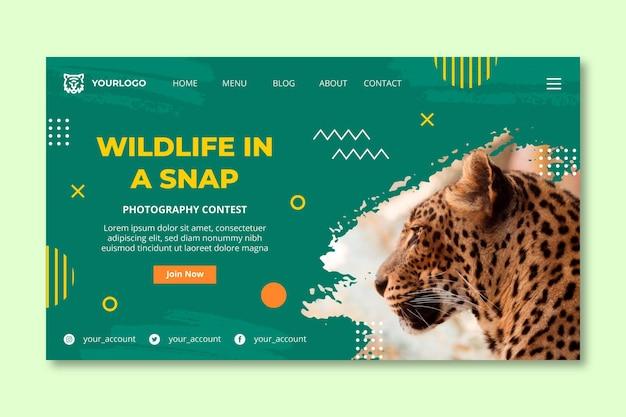 야생의 자연 방문 페이지 템플릿