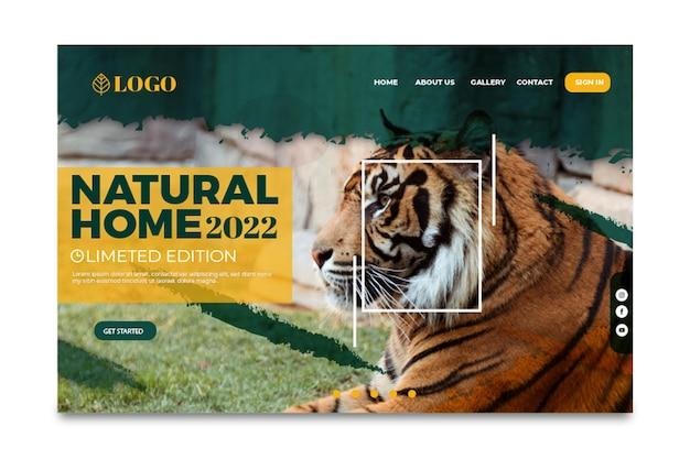Целевая страница дикой природы