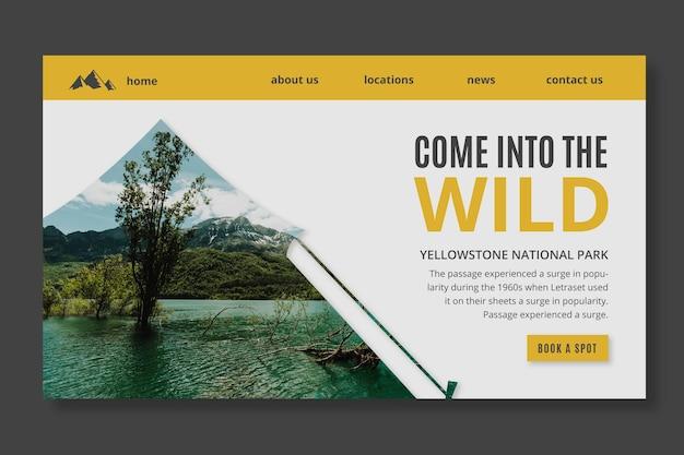 Wild nature landing page