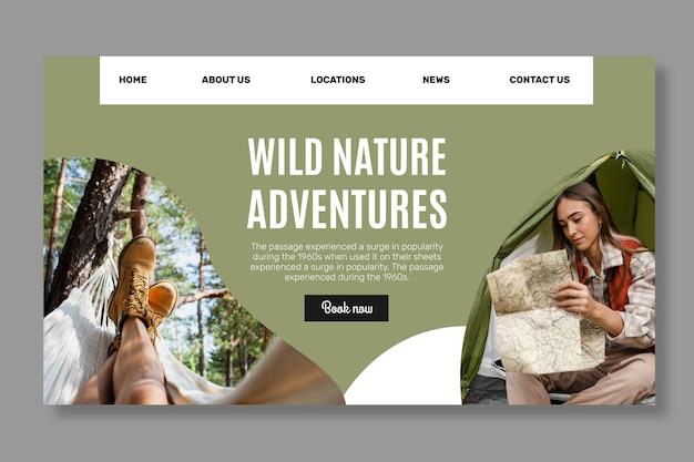 Pagina di destinazione della natura selvaggia
