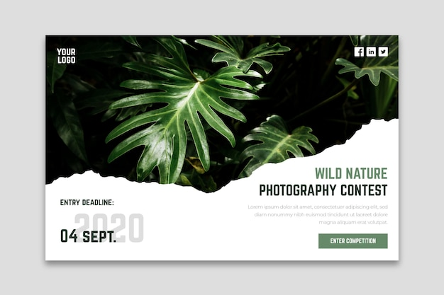 Wild nature photography contest landing page