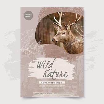 Modello di poster di natura selvaggia