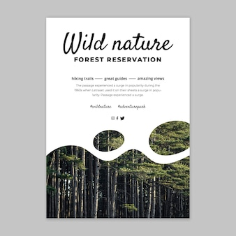 Modello di poster della natura selvaggia