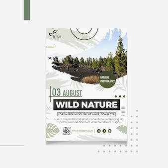 야생의 자연 수직 전단지 서식 파일